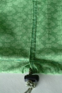 seam on drawstring top