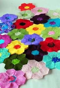 Even more Hexagon flowers