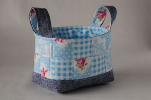 hand made fabric basket