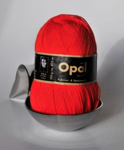 Orange Opal Uni 4 ply sock yarn