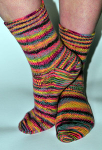 Aquaphobia socks in Posh Yarns Lucia Hothouse
