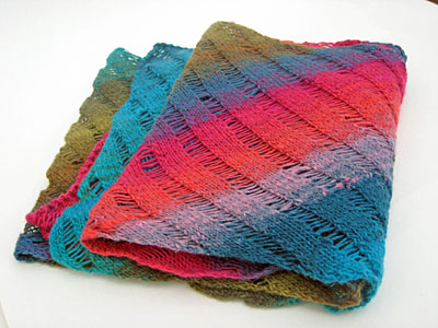 Clapotis Scarf in Noro Sock
