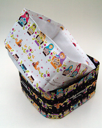 Russian Dolls fabric boxes