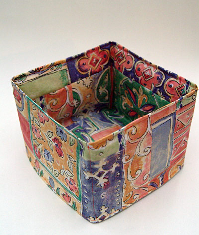 Tall fabric box