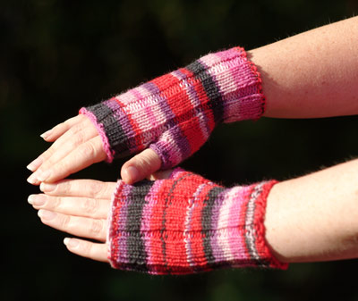 Crazy Color Fingerless Gloves