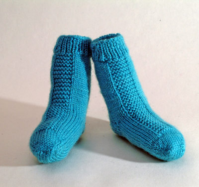 Blue Garter Stripe Baby socks